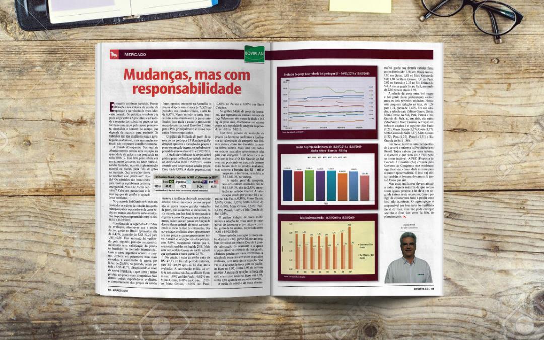 Revista AG: Mudanças, mas com responsabilidade