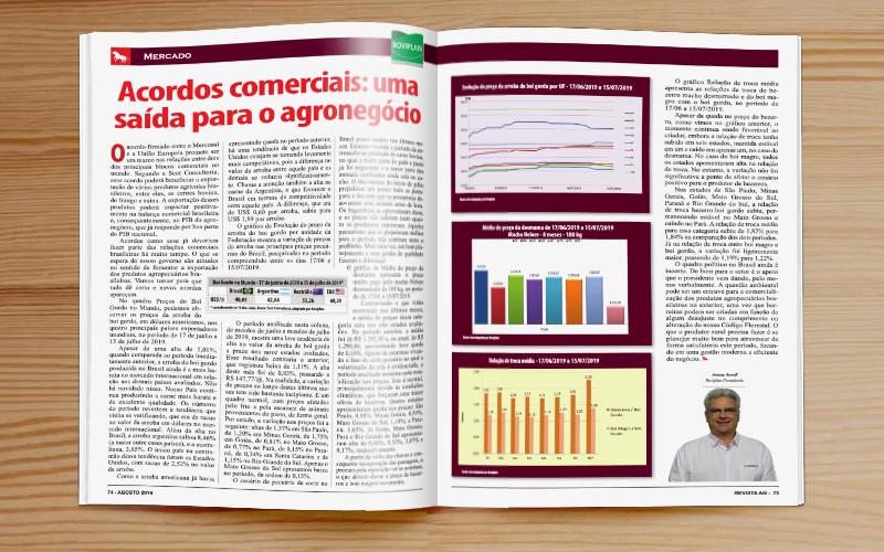 Revista AG: Acordos comerciais: uma saída para o agronegócio